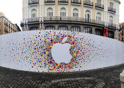 Vinilos para cerramientos: Apple Store Sol