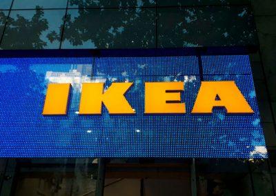 Rotulo para Ikea Serrano temporary store